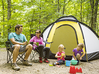 Camping du parc national de la Jacques-Cartier