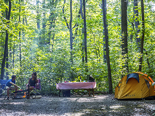 Camping du parc national d'Oka