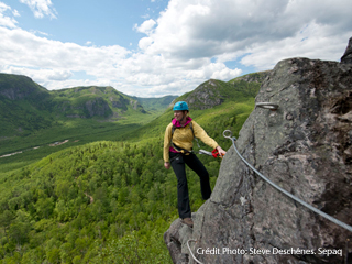 Via Ferrata - Parc national des Grands-Jardins