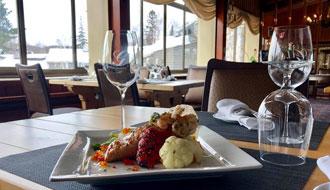 Dégustez la fine cuisine des Laurentides à l'Hôtel & Spa Mont Gabriel